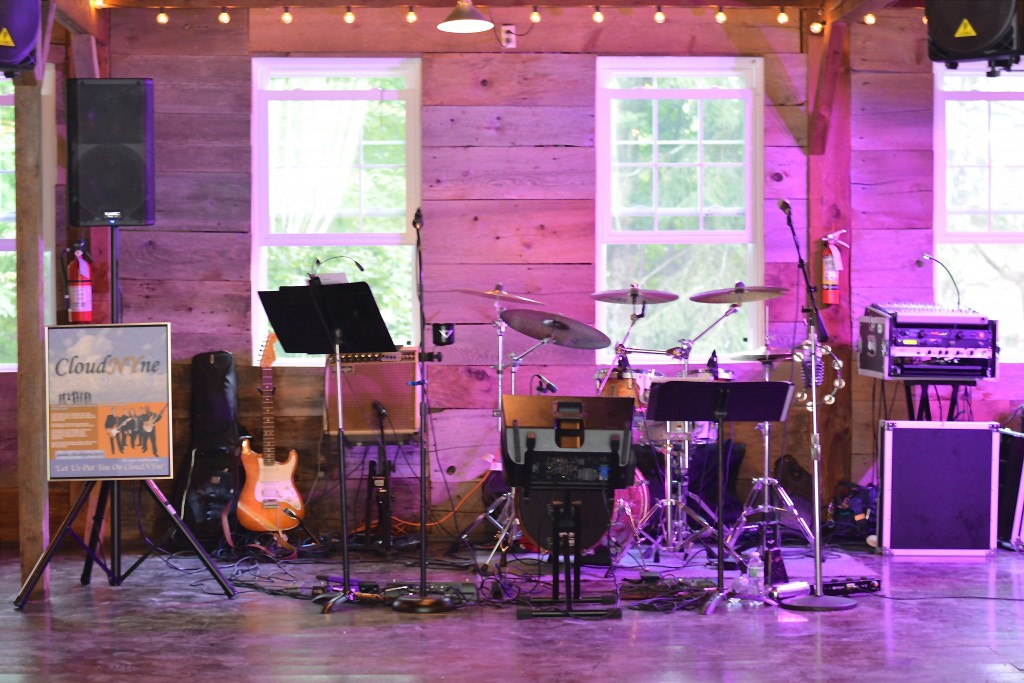 The phenomenal band would play inside the barn later in the evening...